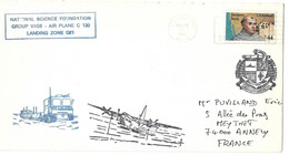 (C11) - COVER US NAVY FPO 96692  NATIONAL SCIENCE FOUDATION => FRANCE 1986 - Briefe U. Dokumente