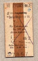 X3] BRD - Pappfahrkarte -- Berlin Friedrichstraße 16 -  Schnellzugzuschlag - 1959 - Europe