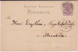 Baden Nv K1 Oberkirch Ganzsache DR P 5 Ca 1875 - Baden