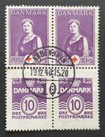 Dänemark 1940, Block Rotes Kreuz Aus Markenheftchen KOPENHAGEN - Gebraucht