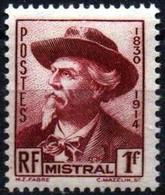FRANCE  495 **  MNH Frédéric MISTRAL POÈTE PROVENCAL 1941 [GR] - Unused Stamps