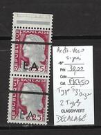 Algerie -EA  -- Typo Tizi Ouzou - 2 Types Se Tenant** - Surcharge Et Annulation Recto Verso Et Fortement Décalés - Unused Stamps