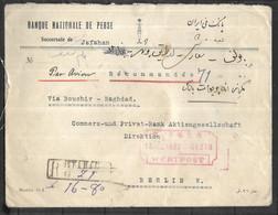 IRAN  LETTRE Recommandée Chargé  Du 18 11 1932 De Jafahan  Pour Berlin  ( Superbe ) - Iran