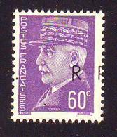 60 C Petain , LIBERATION BORDEAUX N° 1 ** SURCHARGE I , SANS CHARNIERE GARANTI AUTHENTIQUE Cote 70 Euros - Unused Stamps