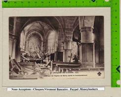 CPA :229 Guerre1914 Interieur De L'Eglise De BARCY Aprés Le Bombardement - Unclassified