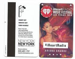 New York New York Casino & Hotel, Las Vegas, Used Magnetic Hotel Room Key Card # NY-25  IRadio 2016 - Hotel Keycards