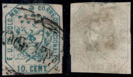 "20- KOLUMBIEN - 1863-1864 - 10 CTS - USED - ""BOGOTA PEARL "" - Colombia"