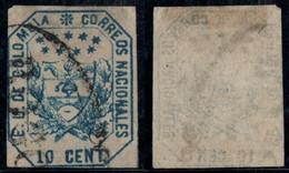 "22- KOLUMBIEN - 1863-1864 - 10 CTS - USED - ""BOGOTA PEARL "" - - Colombia"