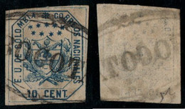 "23- KOLUMBIEN - 1863-1864 - 10 CTS - USED - ""BOGOTA PEARL "" - - Colombia"