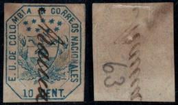 """24- KOLUMBIEN - 1863-1864 - 10 CTS - USED - """"ARAUCA """" - PEN CANCEL - RRR - Colombia"""
