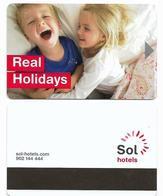 Sol Hotels, Spain, Used Magnetic Hotel Room Key Card, # Sol-10 - Hotel Keycards