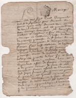 LOZERE - CONTRAT DE MARIAGE 1758 ST JULIEN DU TOURNEL VAREILLES - JEAN BERINGER / MARGUERITE FRANCOIS DU MAS D'ORCIERES - Manuscripts
