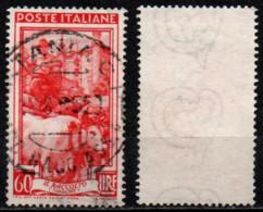 Italia Al Lavoro 60 Lire Filigrana Ruota 3 Destra Bassa - 1946-60: Used