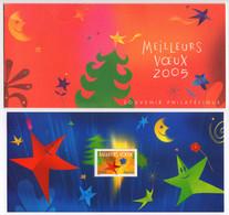 """Bloc Souvenir N°3 - Meilleurs Voeux """"Étoile Personnage"""" - 2004 (avec Timbre YT 3724) - Neuf Avec Carte Sans Blister - Souvenir Blocks"""