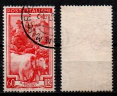 # Italia Al Lavoro 60 Lire Filigrana Ruota 3 Sinistra Alta - 1946-60: Used