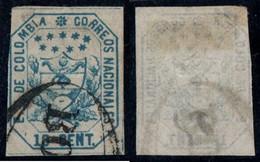 "29- KOLUMBIEN - 1863-1864 - 10 CTS - USED - ""BOGOTA PEARL "" - SMALL THIN TOP LEFT CORNER - Colombia"