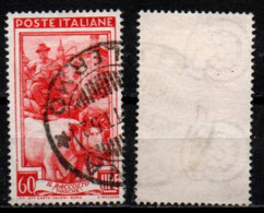 Italia Al Lavoro 60 Lire Filigrana Ruota 3 Sinistra Alta - 1946-60: Used