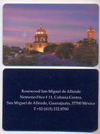 Rosewood Hotel, Guanajuato, Mexico, Used Contactless Hotel Room Key Card, # Rosewood-23 - Hotel Keycards