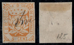 """32- KOLUMBIEN - 1864-1865 - 5 CTS - USED - """"AMBALEMA """" - PEN CANCEL - TYPE III - Colombia"""