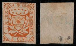 33- KOLUMBIEN - 1864-1865 - 5 CTS - MINT HINGED - ORIGINAL GUM - Colombia