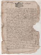 LOZERE - CONTRAT DE MARIAGE 1673 LOUIS ANGLADE De PRADELLES / HELAINE GALHARD De BRIGES - GENERALITE DE MONPELLIER - Manuscripts
