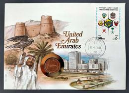 UNITED ARAB EMIRATES - DUBAI FDC COIN AND STAMP (CRL5#A18) - Dubai