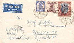 INDIA - AIRMAIL 1947 > HEIDELBERG/DE / GR120 - 1936-47 King George VI