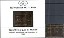 M4417 ✅ Sports Summer Olympic Games Swimming GOLD 1971 Tchad 1v + S/s Set MNH ** 54ME - Estate 1972: Monaco
