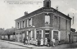 SENEFONTAINE -  SAINT- MARTIN- LE- NOEUD - MAISON HUBAULT-  POSTE TELEPHONE- TABAC - Other Municipalities