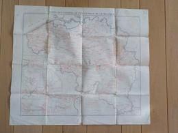 1909 Carte Des Chemins De Fer Vicinaux De La Belgique Trams Tramways Institut Cartographique Militaire - Tranvía