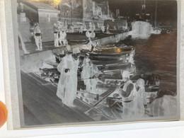 Négatif D'une Photo D'ISTANBUL  : Barques Et Marins Sur Les Berges Du Détroit, Très Original. Année 1920/30 - Lieux