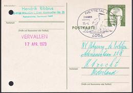 Duitsland 1973, Stamped With A Bird, Nettetal - Postkarten - Gebraucht