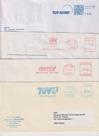 Absenderfreistempel - TÜV Nord, TÜV Akademei, RWTÜV, TÜV Thüringen, 1995-2018 - Briefe U. Dokumente