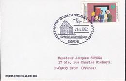 Duitsland 1982, Stamped With A Bird, Burbach, Siegerl - Briefe U. Dokumente