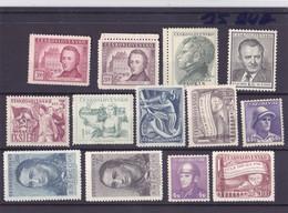 Czechoslovakia -  Year 1945 - 1953 - Unused Stamps