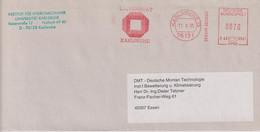 Absenderfreistempel - Karlsruhe, Universität, 1995 - Briefe U. Dokumente