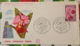 FDC France 1967 Flower Expo Florales Internationales D'Orleans - Briefe U. Dokumente