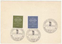 """BRD Nr. 320 - 321 Q Postkarte (wie P30 Ohne Gedruckte Marke) Mit SST """"Deutsche Industrie-Ausstellung Berlin 1960"""" - Briefe U. Dokumente"""