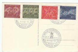 """BRD Nr. 332 - 335 Q Auf Ansichtskarte """"Deutsche Industrie-Ausstellung Berlin 1960"""" Mit Passendem SST - Briefe U. Dokumente"""