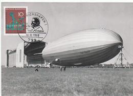 BRD Nr. 546 Q Ansichtskarte LZ 130 Graf Zeppelin II / Sonderstempel: 799 Friedrichshafen 10.8.1968/100. Geb. Dr. Eckener - Briefe U. Dokumente