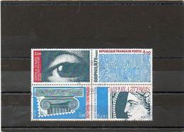 FRANCE       4 Timbres De Feuillet Se Tenant    1975    Y&T:1834 à 1837       Oblitérés - Gebraucht
