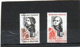 FRANCE       2 Timbres 0,50 F + 10 C    1972    Y&T:1727 Et 1728      Oblitérés - Gebraucht
