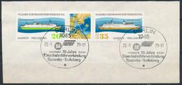 RDA- 70 Ans Liaison Sassnitz-Trelleborg YT 2095A Obl./ DDR- Eisenbahnfährverbindung Mi.Nr. 2429-2430 Gest. - Gebraucht