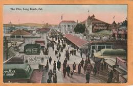 Long Beach Cal Coca Cola Advertising Sign Old Postcard - Long Beach