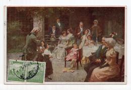 1919. KINGDOM OF SHS,CHAINBREAKER,VERIGARI,HUNGARY STAMP,ILLUSTRATED POSTCARD,USED - Yugoslavia