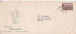 EDICIONES HIPOCAMPO. ARGENTINE ENVELOPPE COMMERCIAL. CIRCULEE 1968. BUENOS AIRES A BEL AIR USA.- LILHU - Lettres & Documents