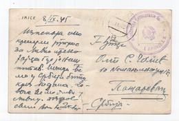 1945. YUGOSLAVIA,BOSNIA,JAJCE,PARTIZAN MAIL TO POZAREVAC,I ARMY MILITARY CENSOR,POSTCARD,USED - Yugoslavia