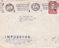 IMPUESTOS, REVISTA MAGAZINE. ARGENTINE ENVELOPPE COMMERCIAL. CIRCULEE 1959. BUENOS AIRES.- LILHU - Lettres & Documents