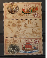 2003 - Estonia - MNH As Scan - Ancient Route Between Gulf Of Finland And Dnepr - 2 Se Tenant Stamps With Central Label - Estonia