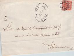 DENMARK - COVER 1855 RINGSTED > KJÖBENHAVN / QG142 - Briefe U. Dokumente
